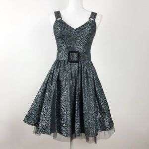 Betsey Johnson Leopard Print Fit & Flare Dress